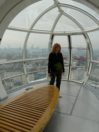 My wife Gillian in the London Eye